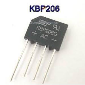 KBP206 2A 600V Bridge Rectifier In-Line