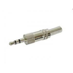 3.5mm Stereo Male Plug Nickel