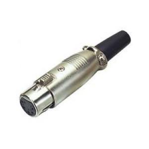 "XLR 3-Pin Female ""Cannon"" Type Plug Socket Inline"