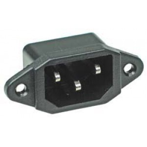 IEC Male Connector Socket Chassis Panel Mount 10A