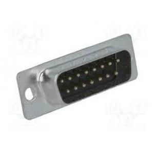 DB15 LD Wide Male Solder Type Plug
