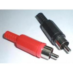 RCA (Male) Plastic Plug RED BLACK (1xPAIR)