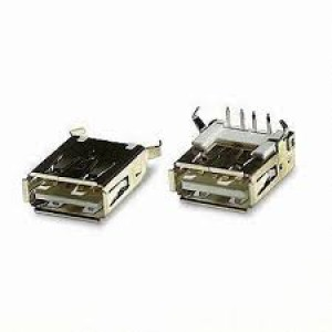 USB A Standard Female Plug Right Angle 4 Pin PCB Mount