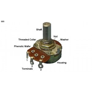 Rotary Potentiometer Linear Taper 500K ohm 3Pin