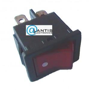 Rocker Switch Mini illuminated 4 Pin DPDT 2 position 250v 6A
