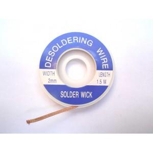 Econo De-soldering Wire/Wick 2mm width 1.5M
